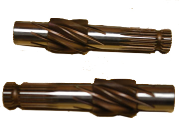 Helical 7 tooth pinion, heat treated, precision ground, made from superior material compared to O.E.