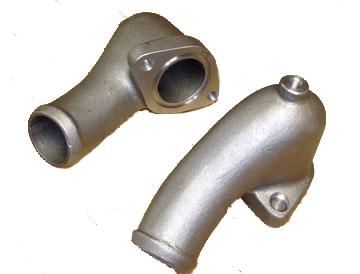 Water necks cast in aluminum for the McLaren M8, works well on all vintage McLaren's.